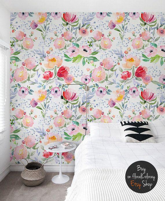 Dreamy floral wallpaper    Watercolor    Pastel    Soft ...