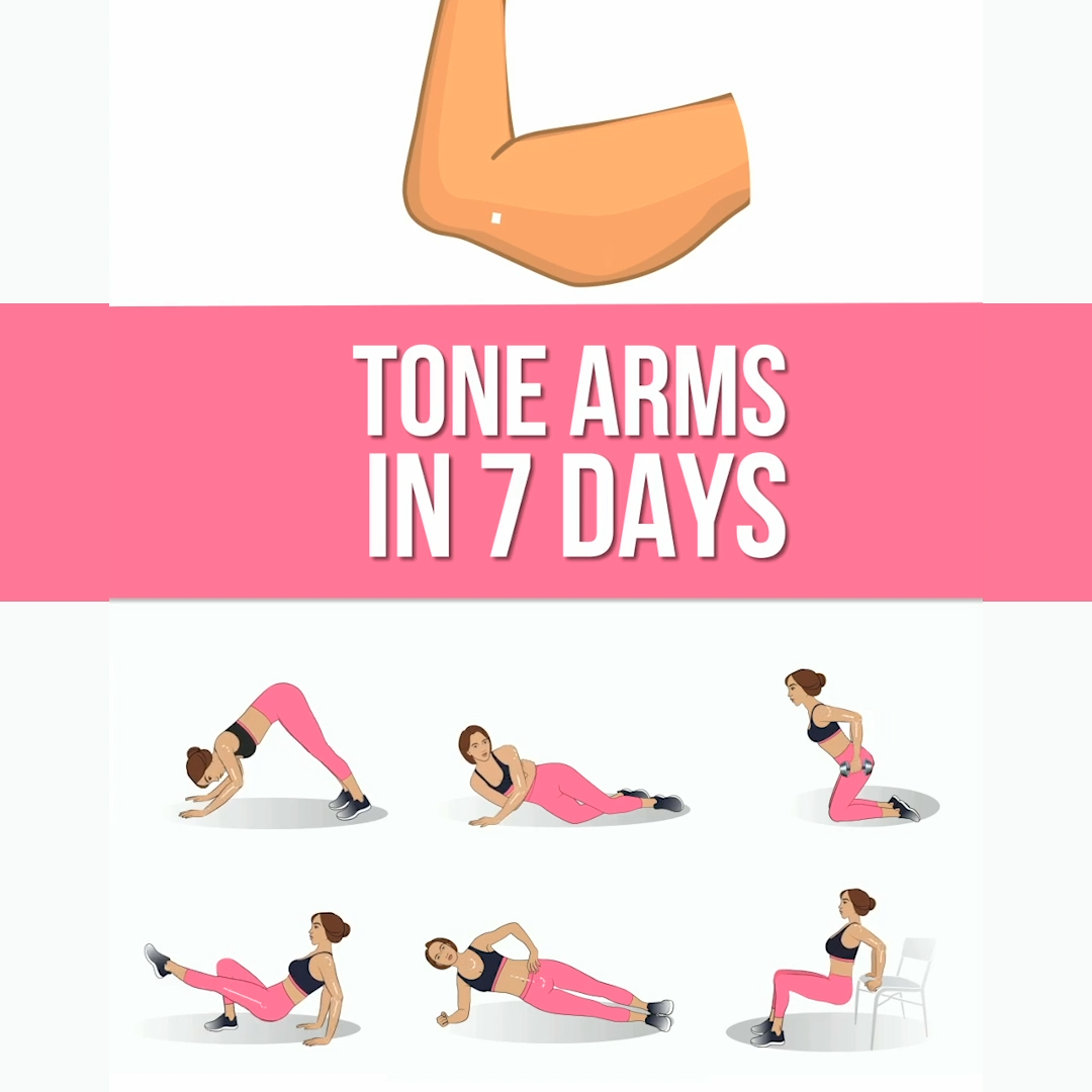 Tone Up Your Arms in 7 Days at Home with Effective Exercises #fitnessexercisesathome