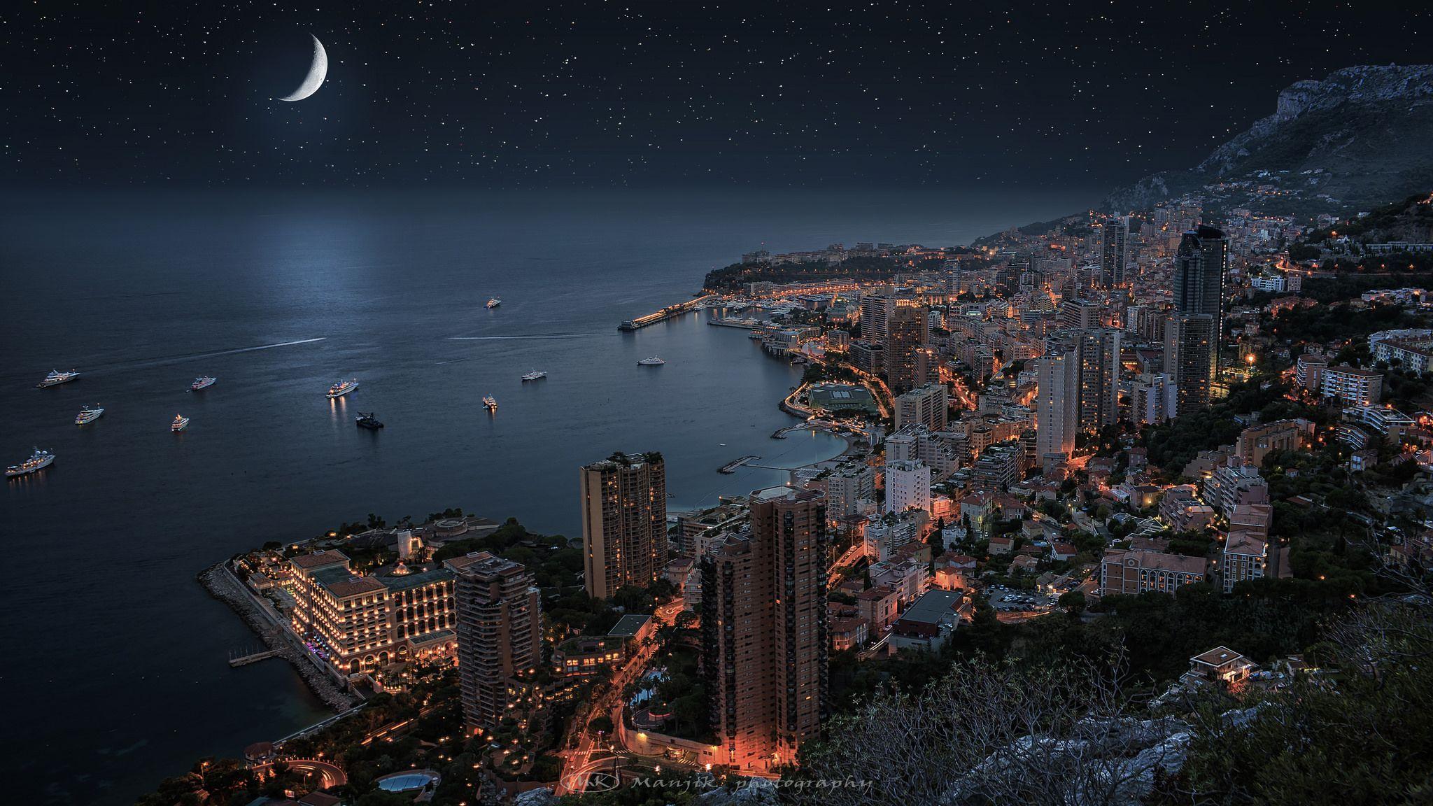 Monaco By Night Starry Sky Monaco Hd Wallpaper Amazing monte carlo wallpapers