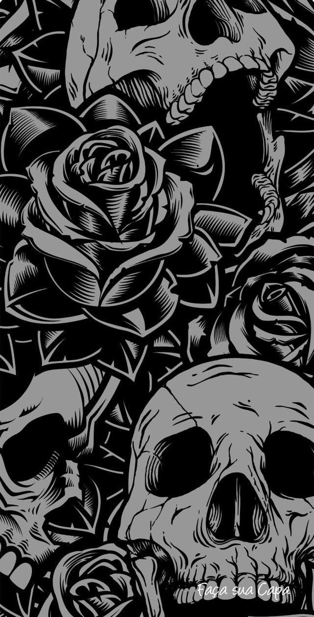 Pin De Jaksar Em Skulls Papel De Parede Caveira Papeis De Parede Caveira Wallpapers Caveira