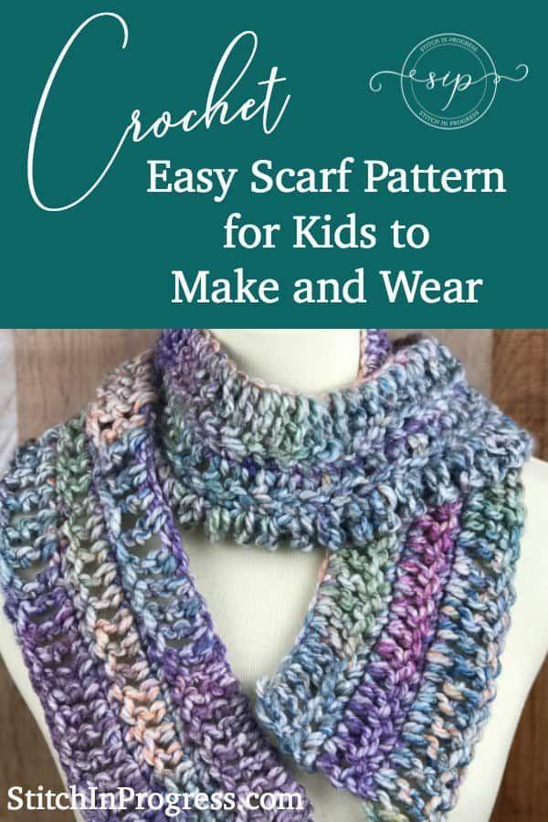 Crochet Kids Scarf Pattern Squishy Rainbow Scarf Knitting