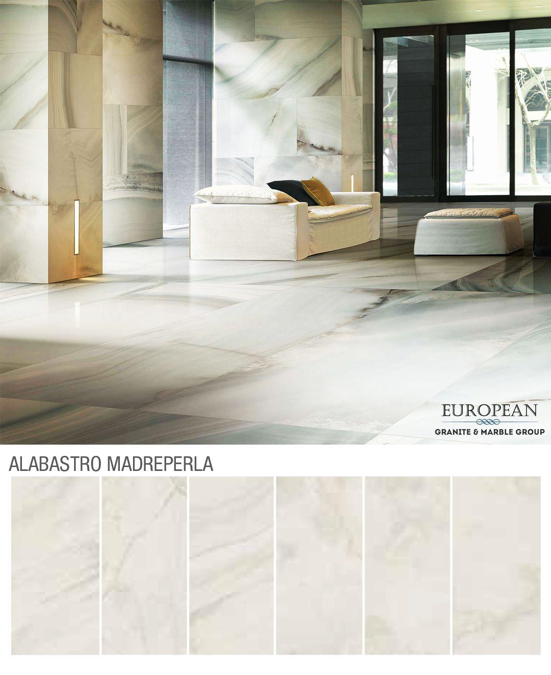 Our Florim Luxury Porcelain Tiles Make A Great First Impression Seen Here In The Design Alabastro Madreperla Polished S Foyer Design Marble Granite Design