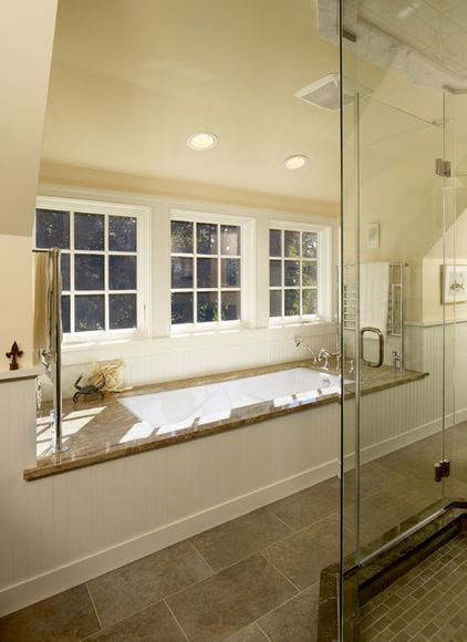 Add a shed dormer to get more bathroom space (Krieger + Associates Architects Inc)