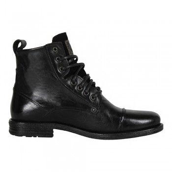 Levis Herren Leder Stiefel Emerson Lace Up Boots In Regular Black Schwarz Zapatos Caballero Zapatos Ropa