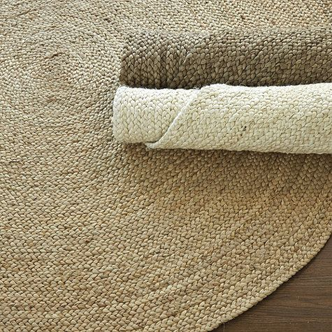 Round braided jute rug from ballard designs comes in three for Cheap small round rugs