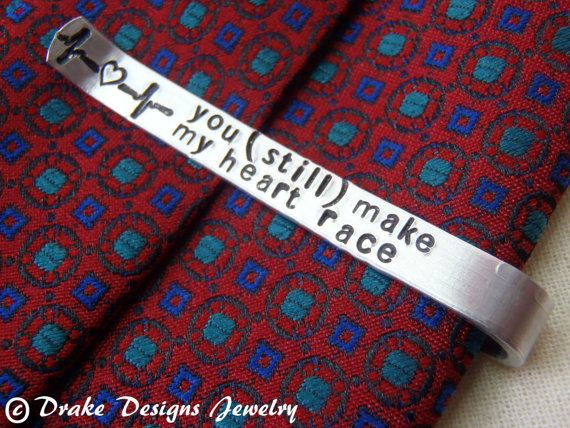 7d292f217ff0 Personalized Tie Clip Secret Message custom tie bar with message ...