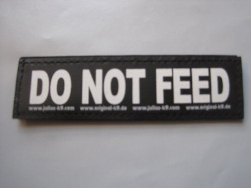 Do Not Feed Large Package Of 2 Juliusk9 Velcro Labels For K9