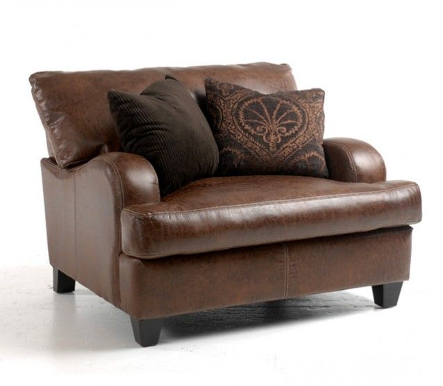 Chestnut Microfiber Chair And A Half Chair And A Half Chair Living Room Furniture