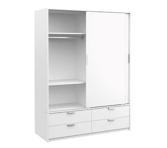 Armoire 2 portes coulissantes DRESS blanc Decoration and Room - armoire ikea porte coulissante
