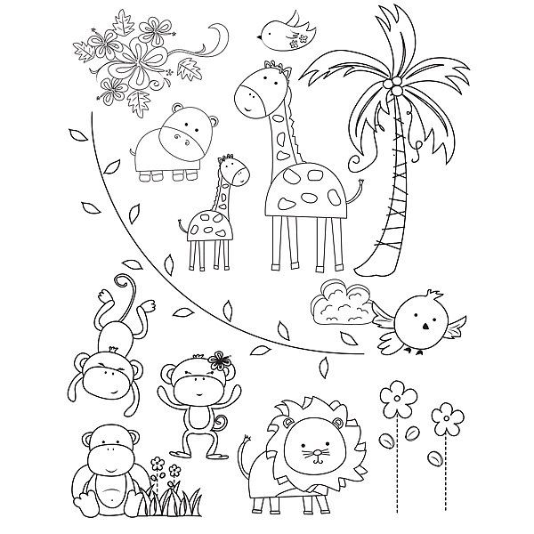 Clear Stamps By Mindy Terasawa Mindys Zoo At Hsn Zoo Coloring Pages Zoo Animal Coloring Pages Animal Coloring Pages
