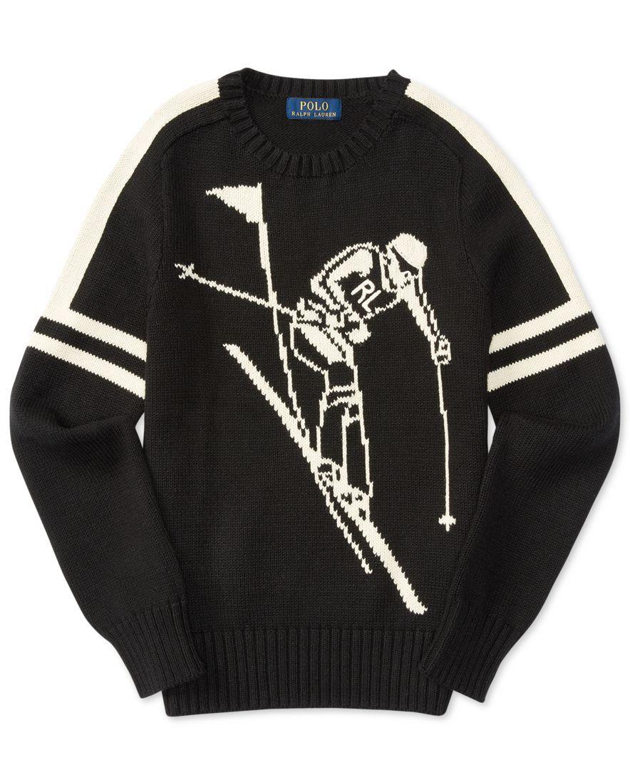 Ralph Lauren Graphic-Knit Sweater, Big Boys (8-20)