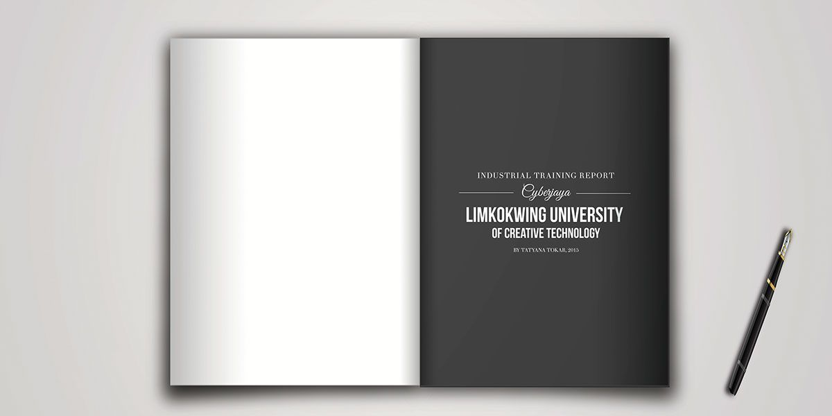 Internship Report Book Design On Behance  Intership Report