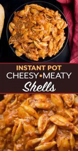 Instant Pot Cheesy Meaty Shells taste almost like a bowl of lasagna pasta Rich   Instapo Instant Pot Cheesy Meaty Shells taste almost like a bowl of lasagna pasta Rich...