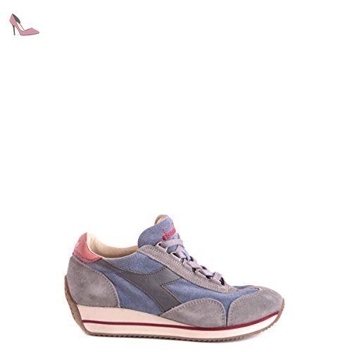 Sneakers Diadora Heritage Homme Chamois Bleu, Gris, Orange et Blanc 20115708301C6203 Bleu 42EU