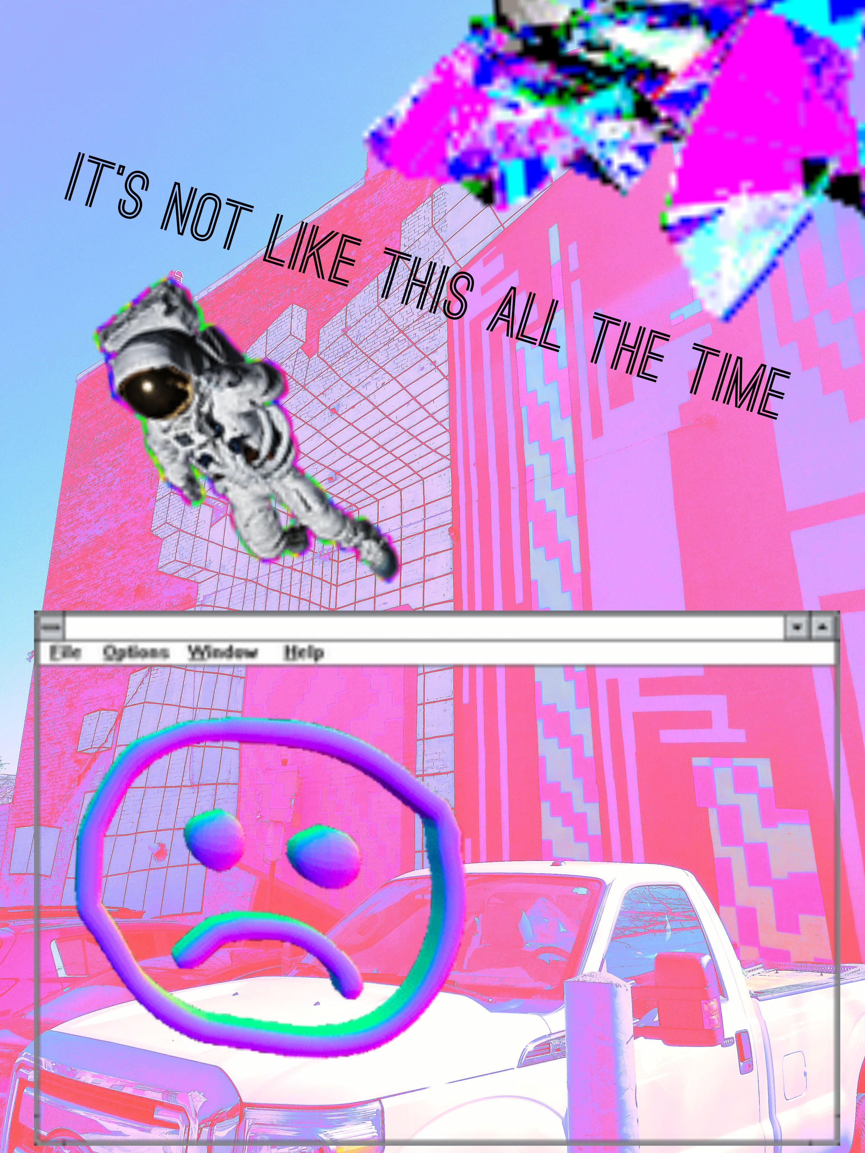 Art Therapy Vhs 90s Analog Nostalgic Cyberpunk Surrealism Pop Culture Synthwave Vaporwave Glitch Aes Aesthetic Wallpapers Retro Aesthetic Vaporwave