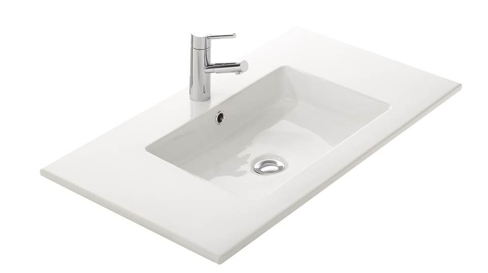 Philippe Starck Wastafel : Wastafel dun keramiek vierkante waskom slimline thebalux