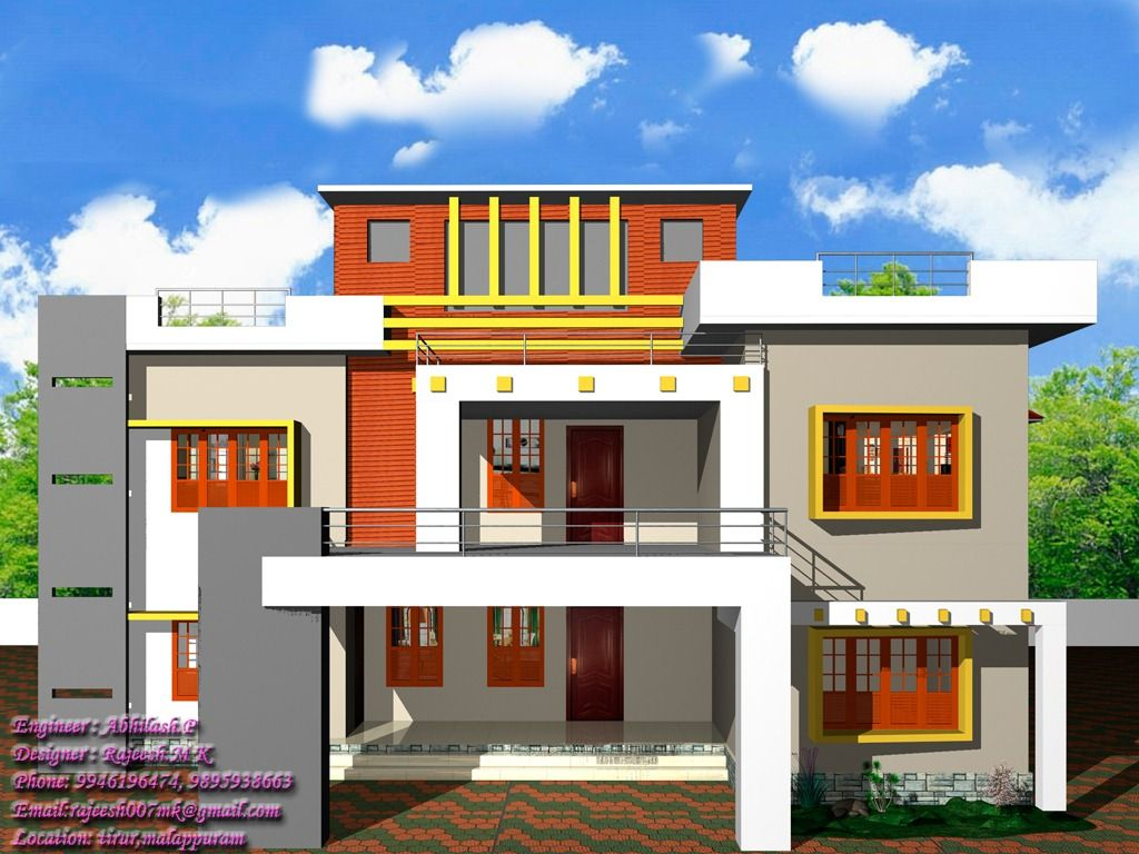 13 Awesome Simple Exterior House Designs In Kerala Image
