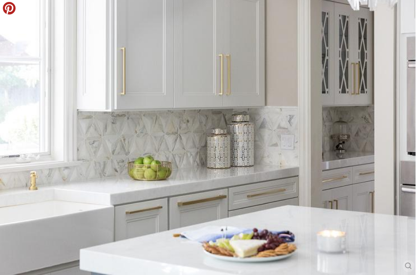 The Lowdown On Marble Countertops In Kitchens And Bathrooms The Enchanted Home Cottage Kitchen Design Countertops White Shaker Kitchen Cabinets