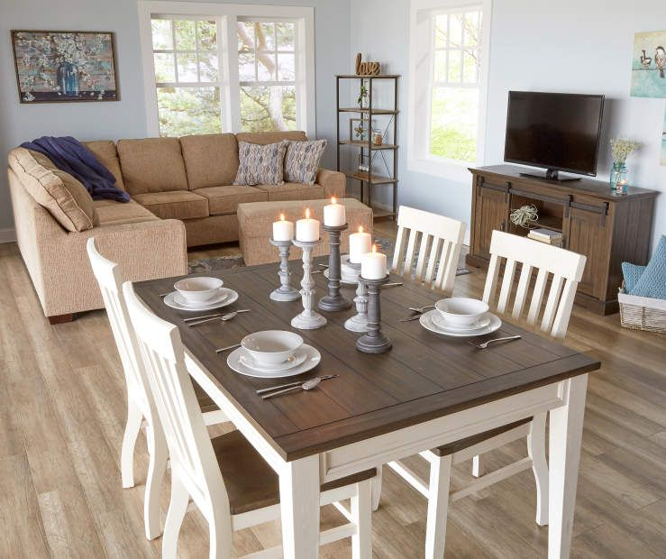 Stratford Caylie Farmhouse Dining Table Big Lots Farmhouse Dining Table Farmhouse Dining Room Table Dining Table