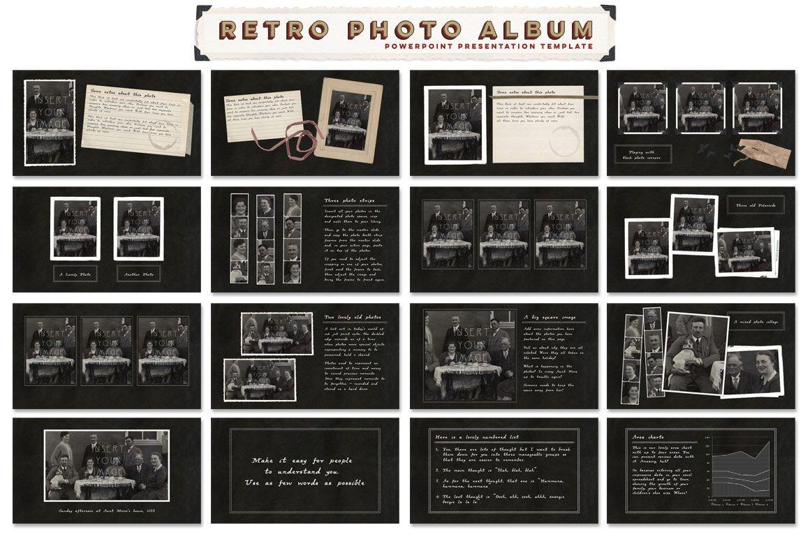 Retro Photo Album Ppt Template By Blixa 6 Studios On Creative Market