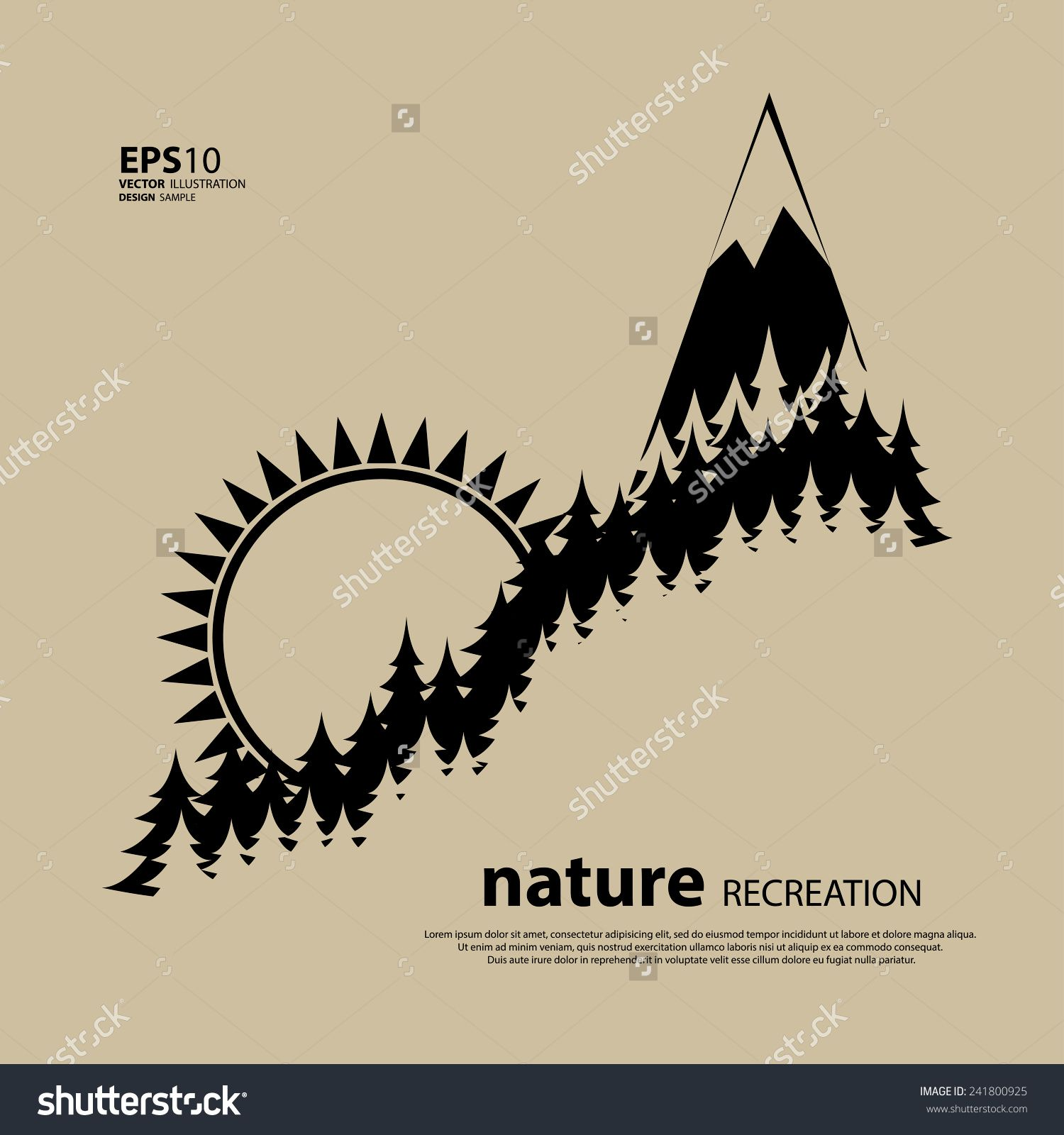 vintage camping and outdoor activity logo  vector logo template