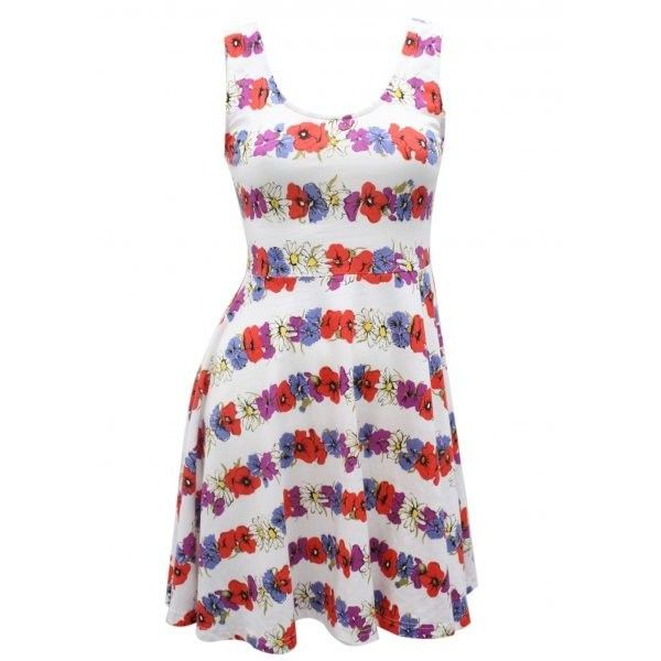 Flower Child Skater Dress ❤ liked on Polyvore featuring dresses