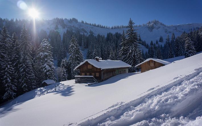 herunterladen hintergrundbild alpen winter landschaft. Black Bedroom Furniture Sets. Home Design Ideas