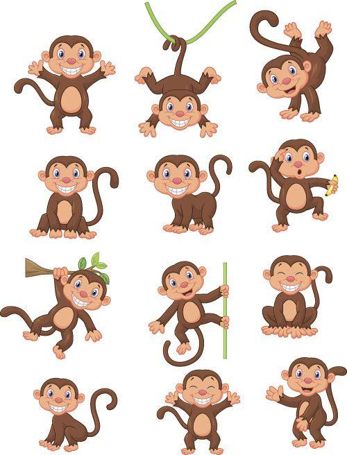 Funny Monkey Drawing : funny, monkey, drawing, Drawn, Funny, Monkeys, Monkey,, Monkey, Illustration,
