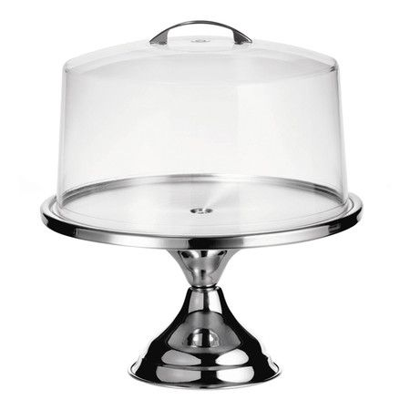 Stainless steel pedestal cake stand with a plastic dome. Product Cake plate and domeConstruction Material S..  sc 1 st  Pinterest & Stainless steel pedestal cake stand with a plastic dome. Product ...