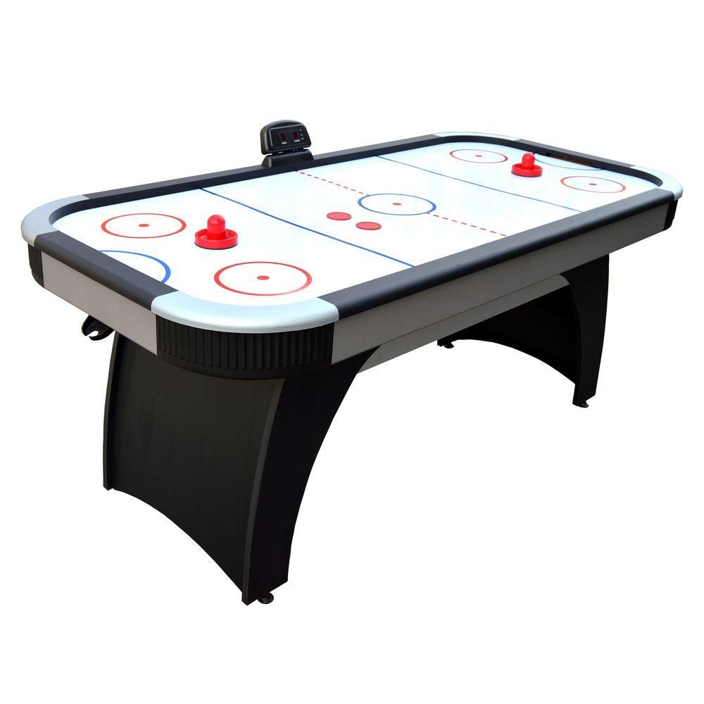 Hathaway Silverstreak 6 Ft Air Hockey Game Table For Family Game Rooms With Electronic Scoring Bg1029h Game Room Tables Air Hockey Games Table Games