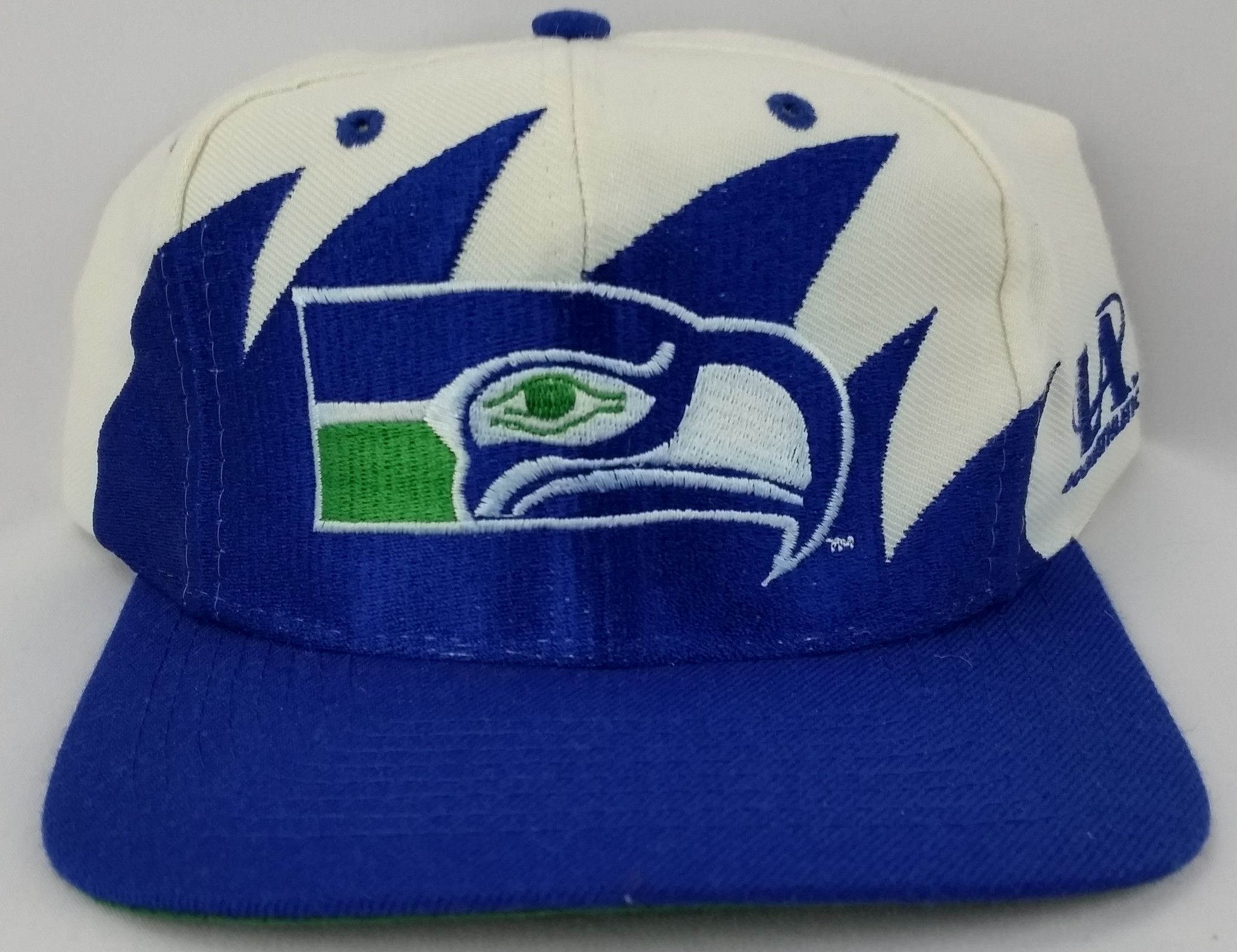 7f0a00a21c1b01 Seattle Seahawks Vintage Snapback Logo Athletic Sharktooth Hat NFL Starter  Logo7