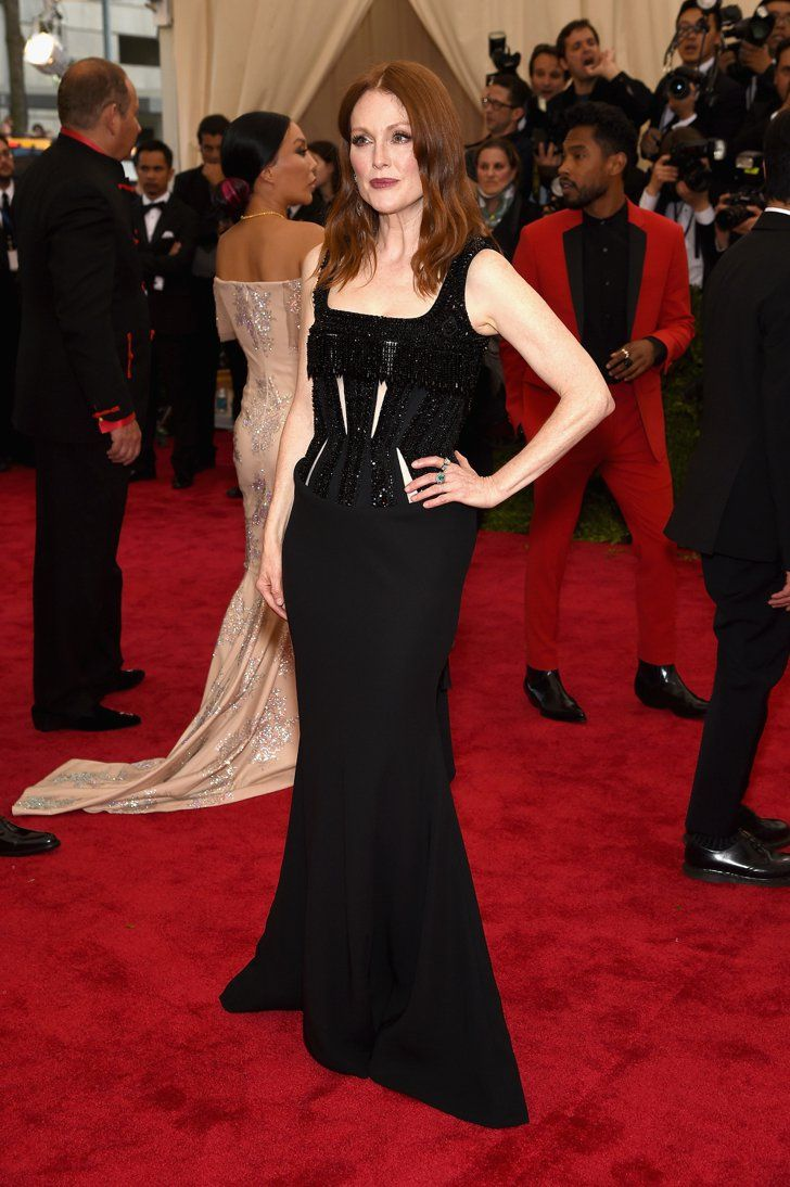 pin for later relive all the glamour from last year 39 s met gala red carpet julianne moore. Black Bedroom Furniture Sets. Home Design Ideas