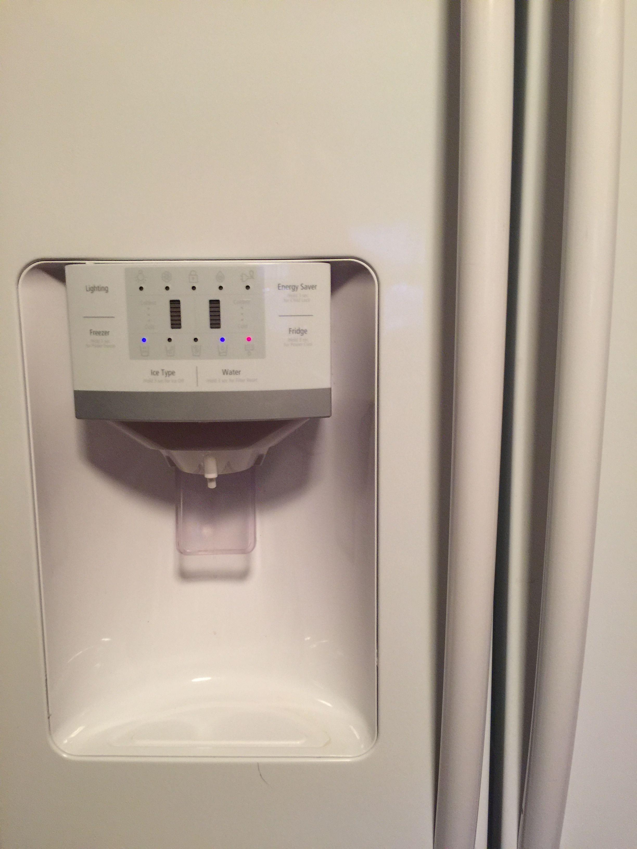 Icewater dispenser on fridge iphone image by fperkins