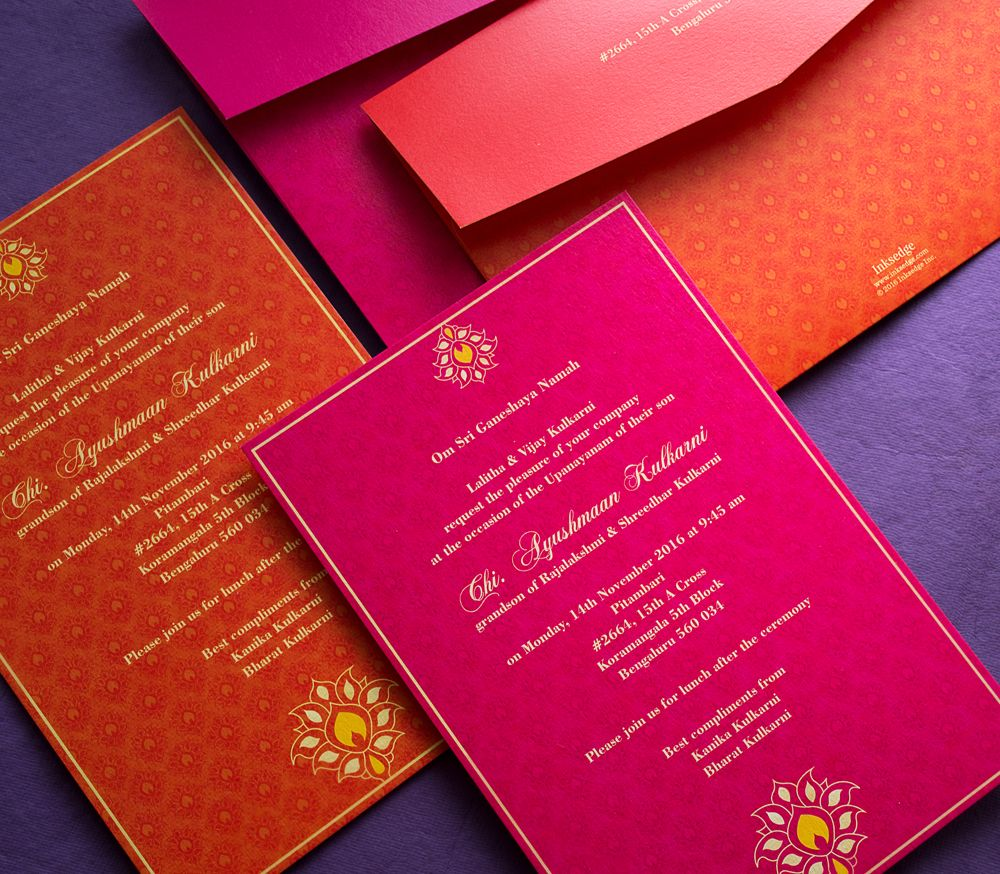 Colorful announcement of your Thread Ceremony! #ThreadCeremony ...
