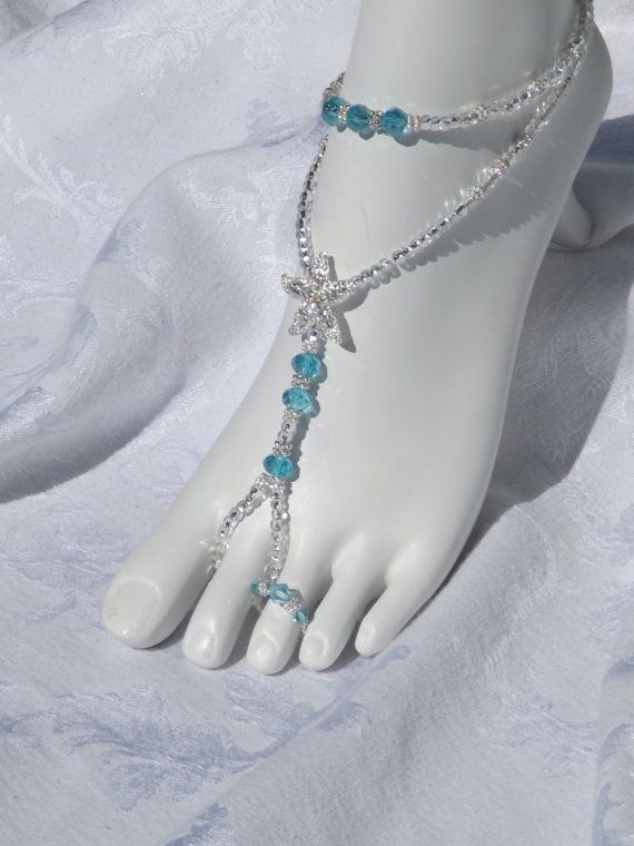 Foot Jewelry Starfish Jewelry Beach Wedding Jewelry Barefoot Sandal