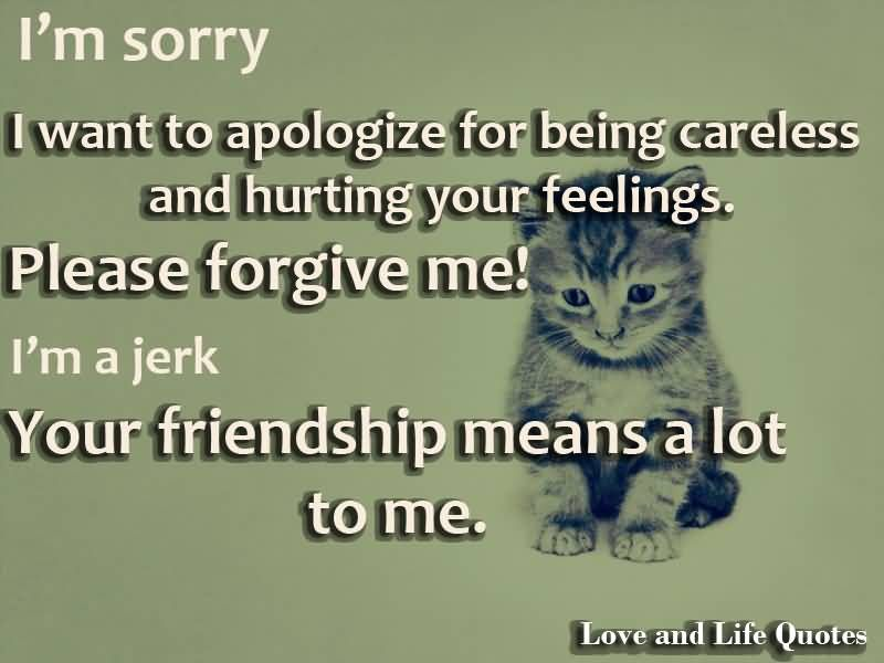 A apology words of friend to How to