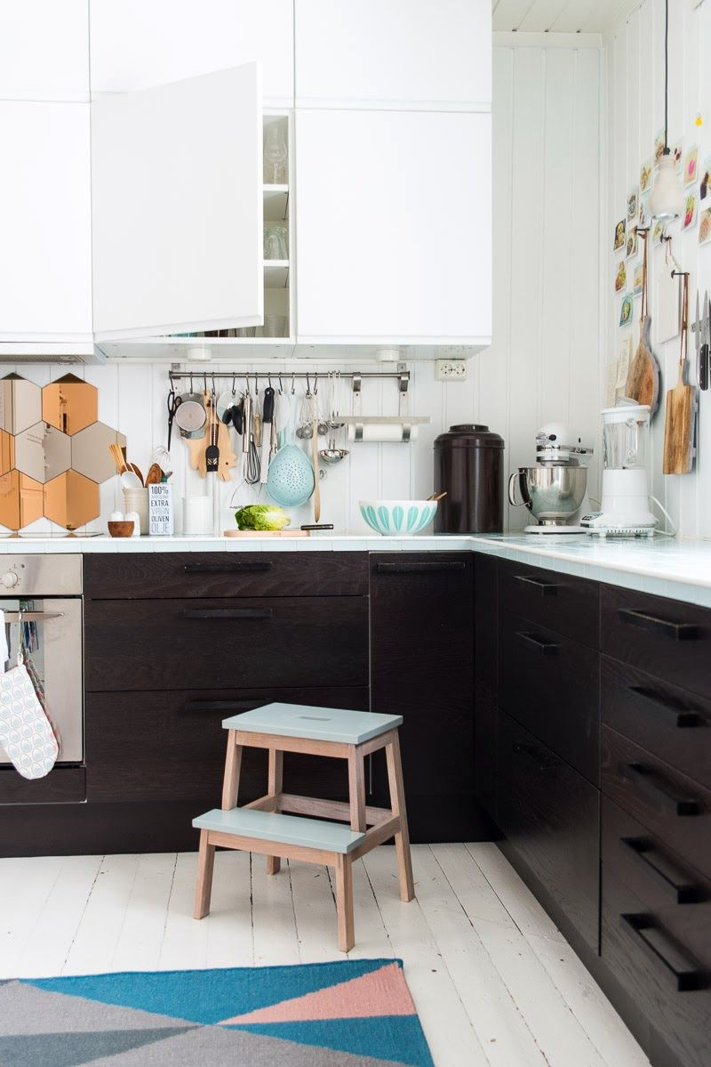 Cute kitchen with black cabinets decor cozinhas kitchens