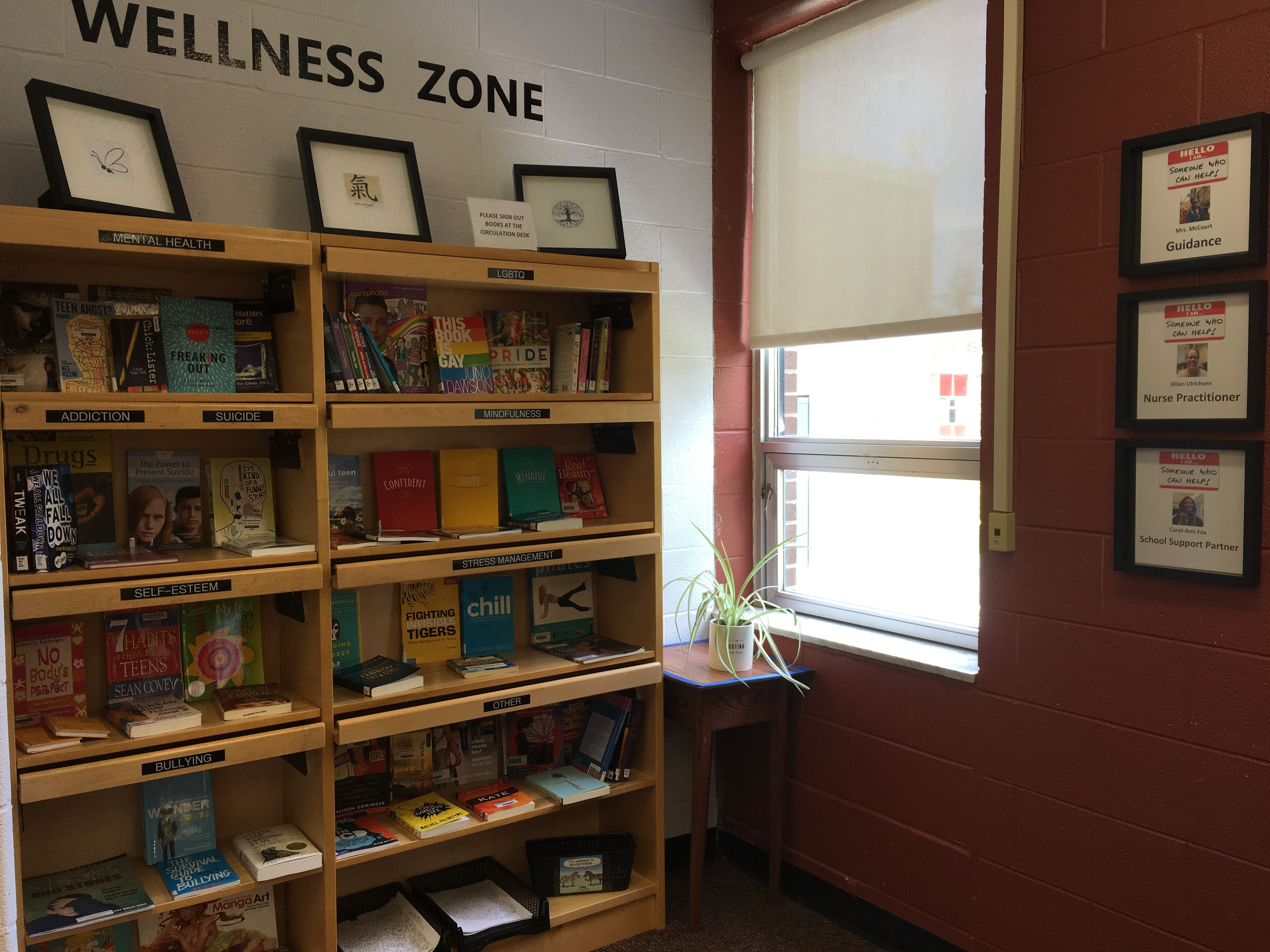 High School Wellness Zone With Resources For Students To
