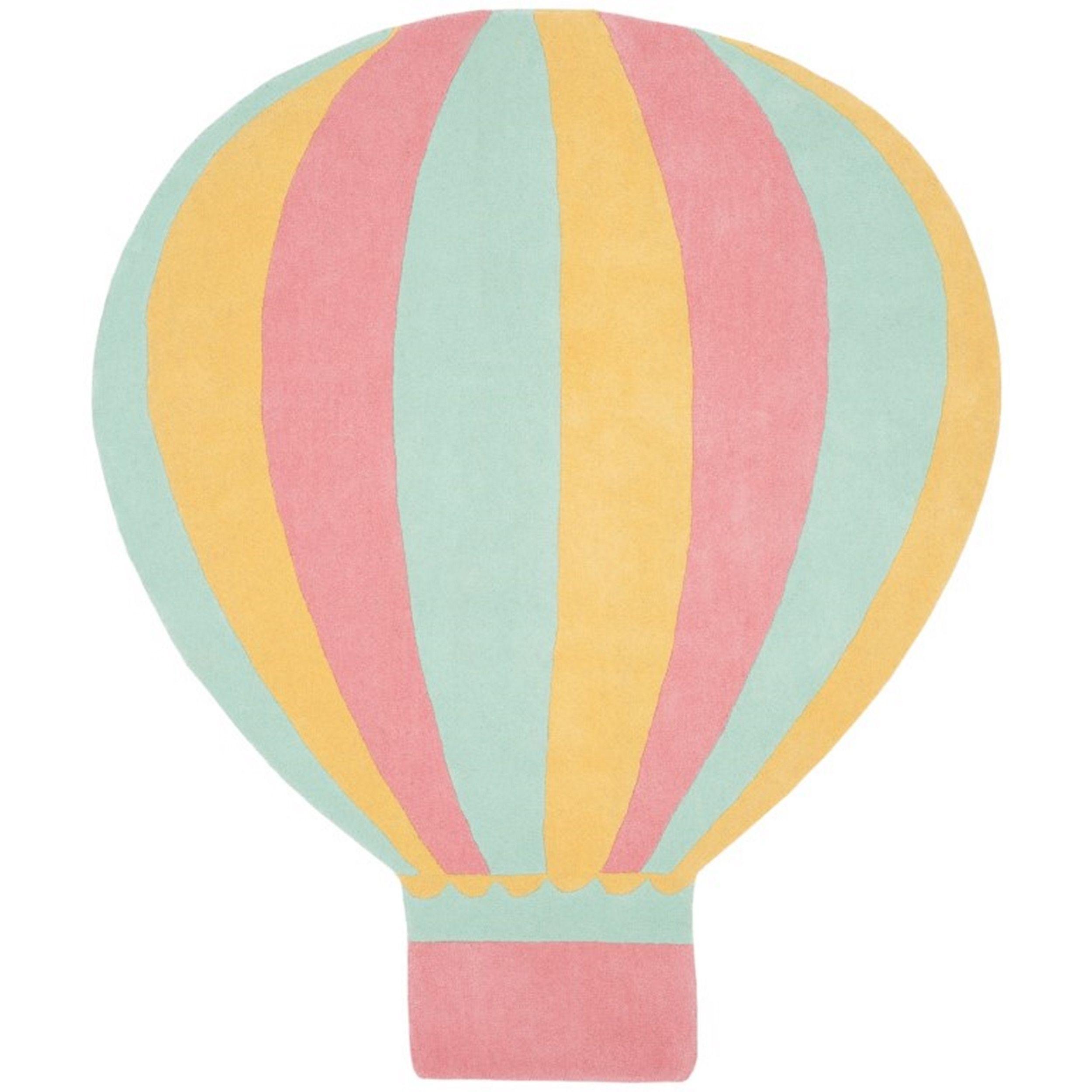 Martha Stewart by Safavieh Hot Air Balloon Peony / Pink / Blue Wool ...