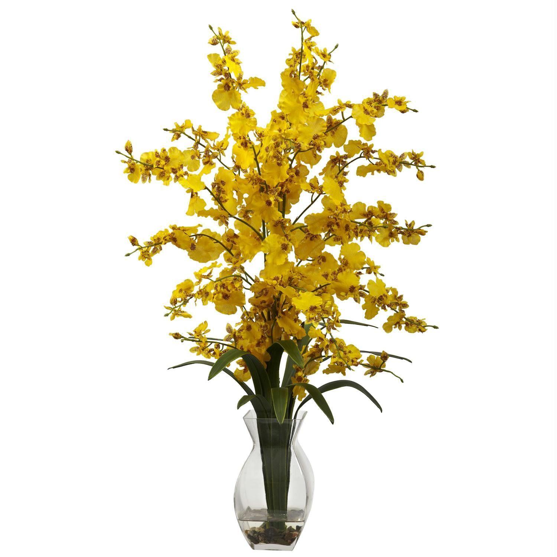 Dancing Lady Orchid w-Vase Arrangement