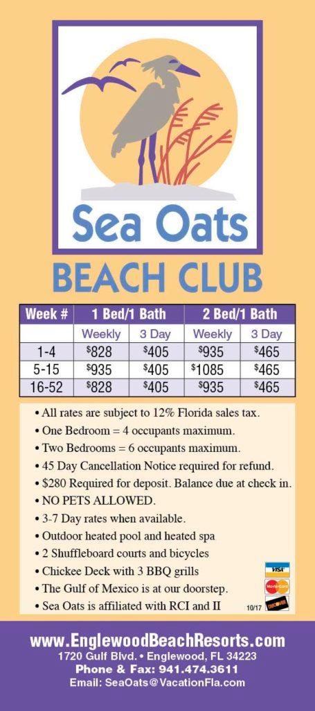 Sea Oats Beach Club   Beach club, Englewood beach, Beach ...