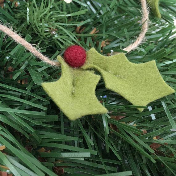 Holly Garland decoración de Navidad decoración de por TinyandToad
