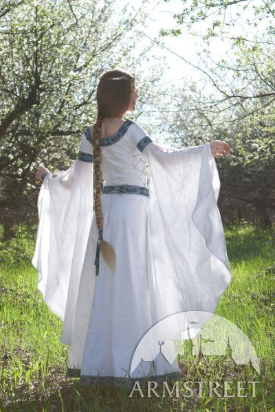 Robe De Mariage Médiévale Fantastique Cygne Blanc En