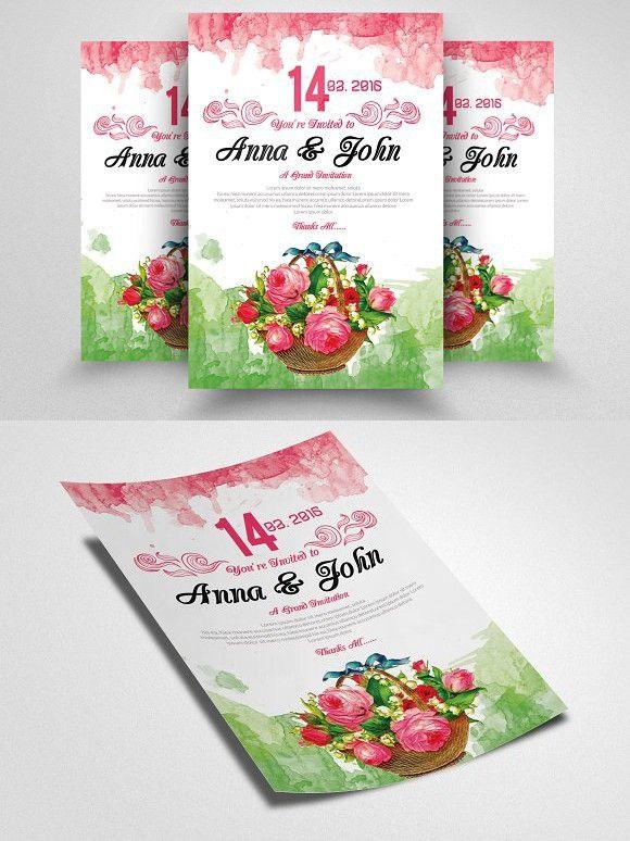 Save The Date Wedding flyer Wedding Card Templates Wedding Card - wedding flyer