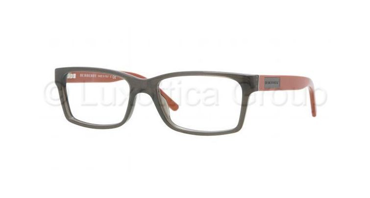 f16e29ed8a3 Burberry BE2108 Eyeglass Frames 3301-5216 - Striped Gray Demo Lens Frame