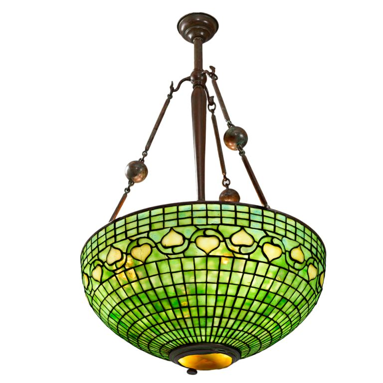 Tiffany studios new york leaf and vine chandelier c 1900 tiffany studios new york leaf and vine chandelier aloadofball Image collections