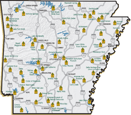 Arkansas State Parks Cing Pinterest Trips And Park In: Arkansas State Parks Camping Map At Codeve.org