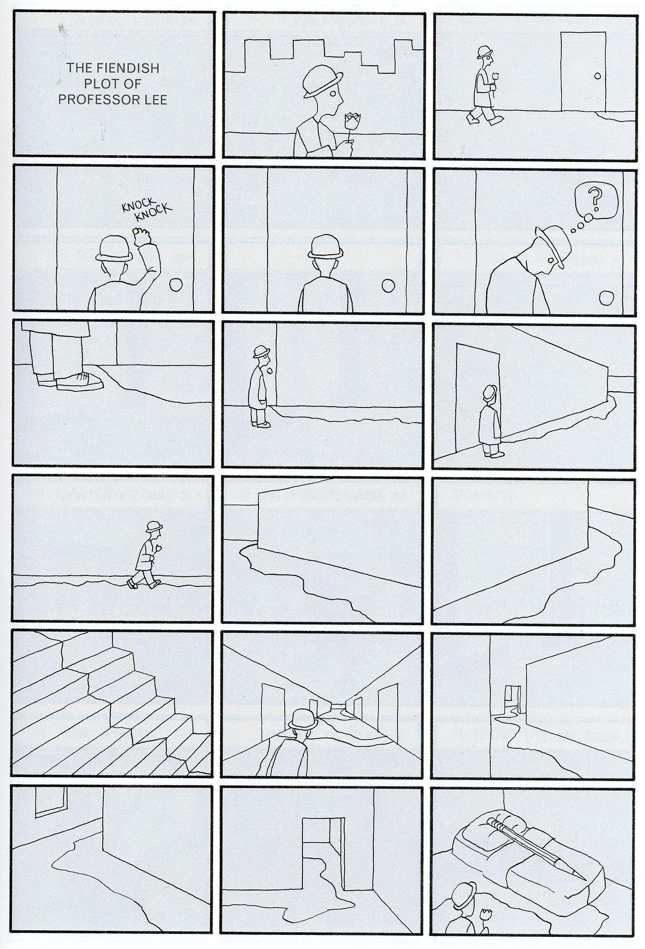 Richard Hahn Bristol Board Comic Strips Poems