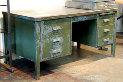 Vintage military base desk - For those who secretly wish they worked on  covert WWII missions - Vintage Military Base Desk - For Those Who Secretly Wish They Worked