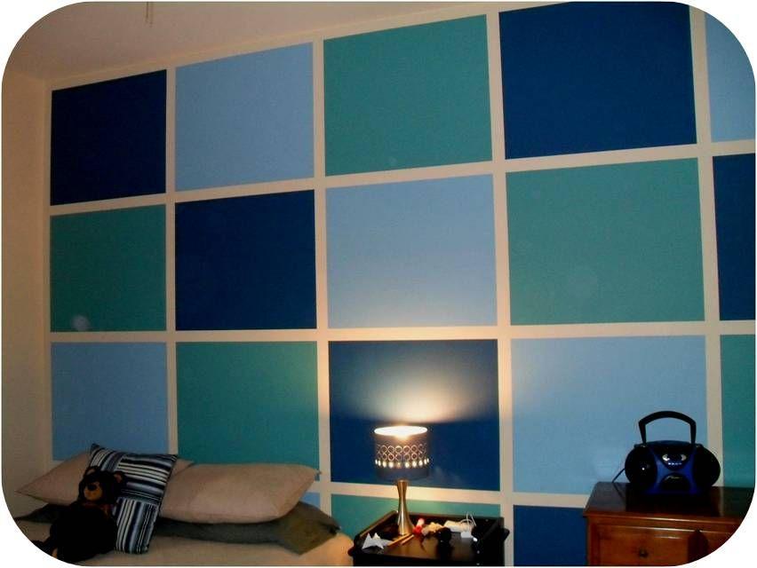 Block Painted Wall   Idea.. Makes Those Ugly Block Walls Pop!